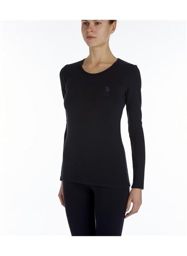 U.S. Polo Assn. U.S. Polo Assn. Kadın Siyah Termal Uzun Kol T-Shirt Siyah